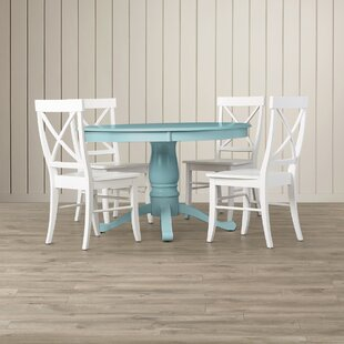 Stock Island 5 Piece Pedestal Dining Set by Beachcrest Home