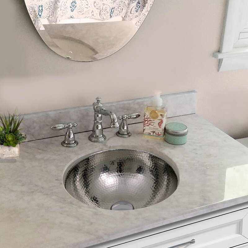 Nantucket Sinks Polished Stainless Steel Circular Undermount Bathroom Sink With Overflow Wayfair