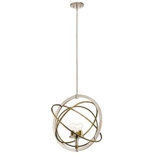 Wrought Studio Serenity 3-Light Globe Cha..