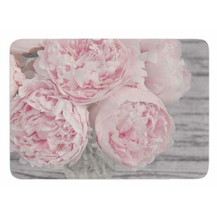 Peony Flowers by Suzanne Harford Bath Mat