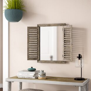 Gracie Oaks Candee Rustic Shuttered Accent Mirror