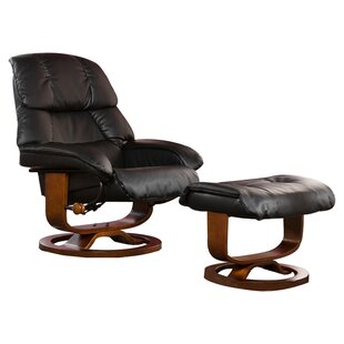 Easter Standard Manual Swivel Recliner with Ottoman by Red Barrel Studio