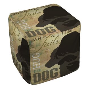 Hug the Dog Pouf by Manual Woodworkers & Weavers