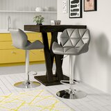 Marceline Hydraulic Adjustable Height Swivel Bar Stool (Set of 2) by Zipcode Design