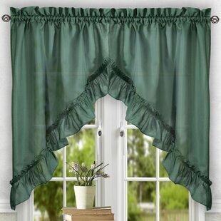 Ellis 60 Ruffled Swag Curtain Valance