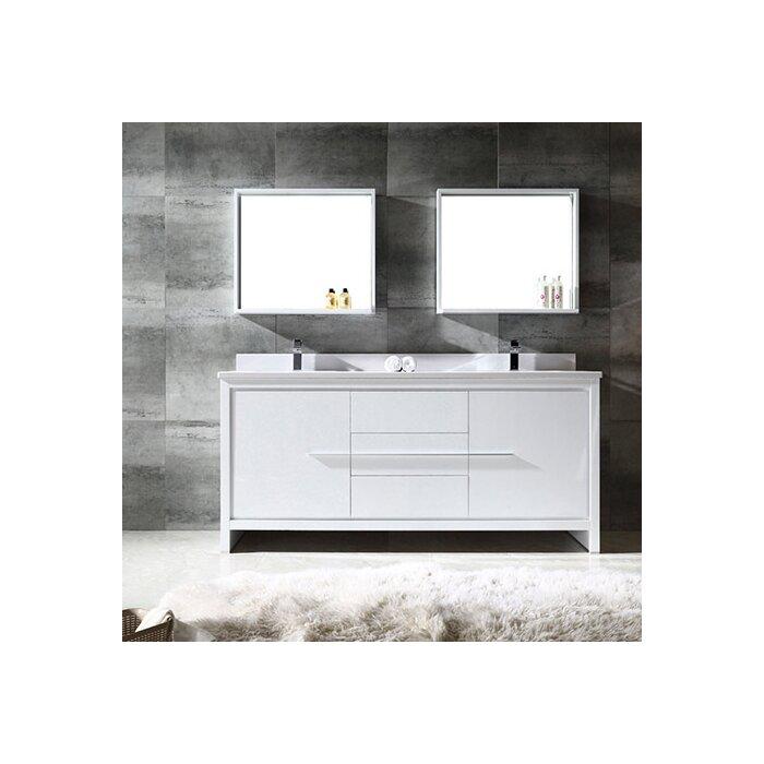 fresca trieste allier 72 double bathroom vanity set with mirror rh wayfair ca