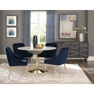 Chilmark Upholstered Dining Chair (Set of 2) Everly Quinn