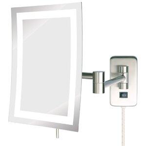 Stigler Led Lighted Wall Mount Rectangular Makeup Mirror