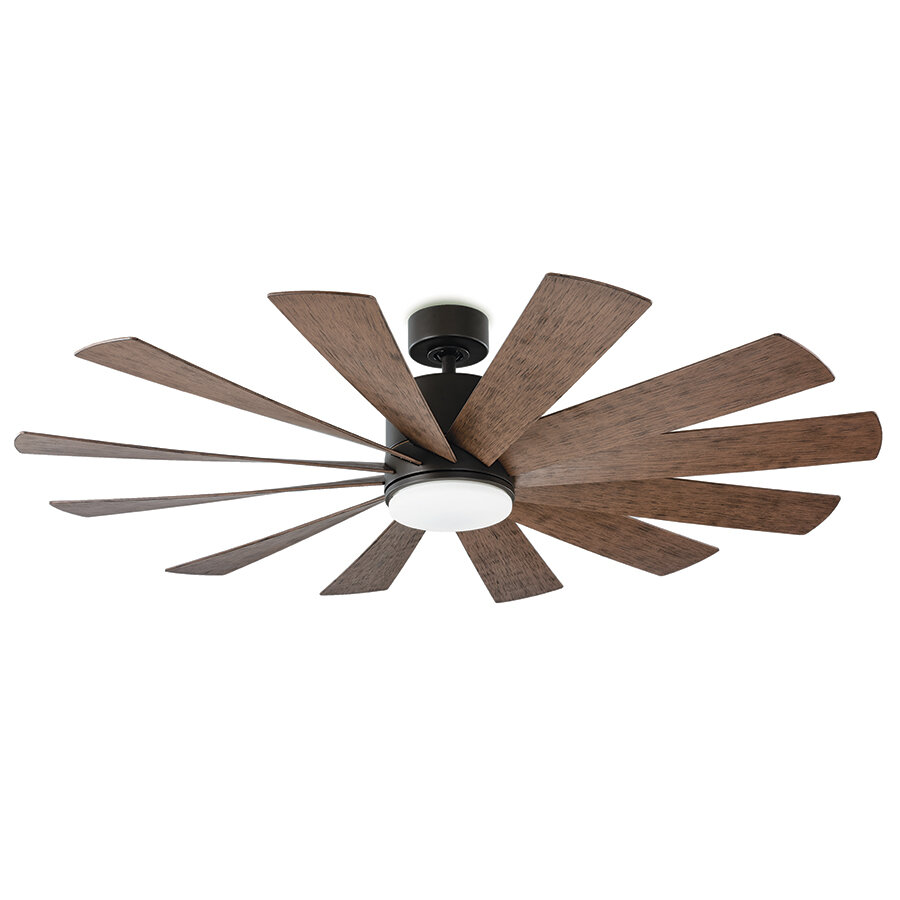 Modern Forms Windflower 12 Blade Outdoor Led Windmill Ceiling Fan With Light Kit Included Reviews Perigold