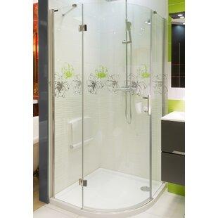 Colombo 90cm W x 90cm D x 195cm H Quadrant Sliding Door Shower Enclosure by Belfry Bathroom
