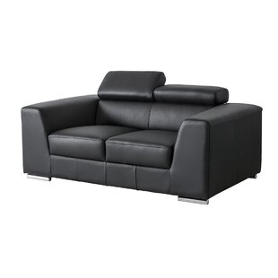 Cesca Leather Loveseat by Orren Ellis