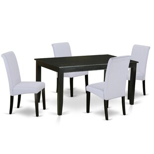 Bailee Kitchen Table 5 Piece Solid Wood Dining Set