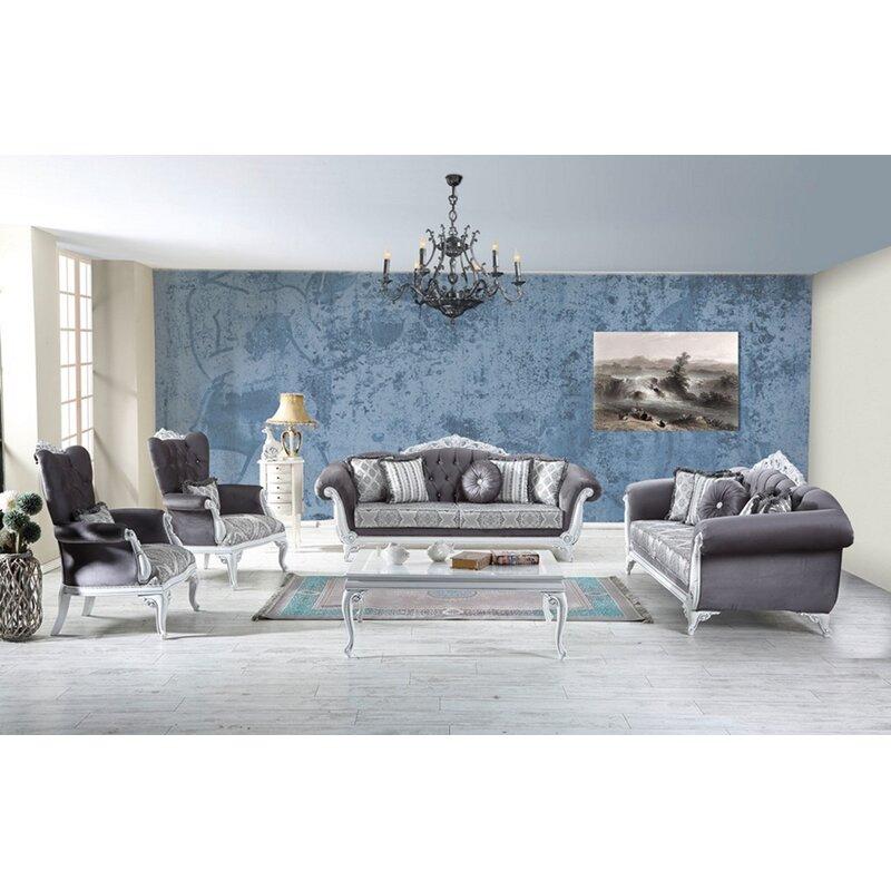 Rosdorf Park Hoopes 4 Piece Standard Living Room Set Wayfair