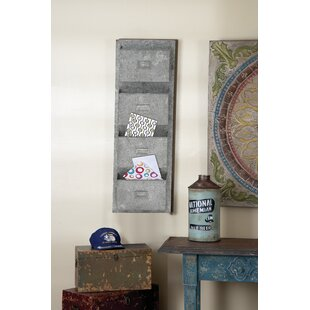 Reviews 15 x 45 x 5 Metal Galvanized Wall Pocket By Cole & Grey