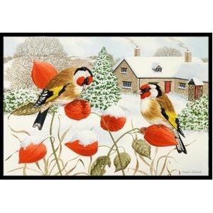European Goldfinches Doormat
