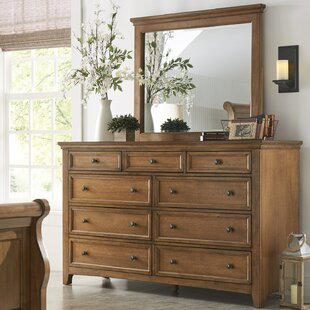 Solid Oak Dresser With Mirror Wayfair