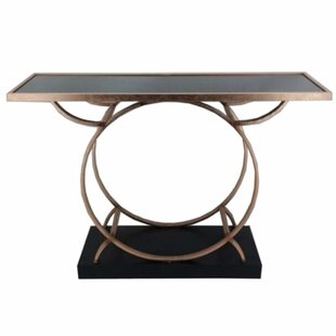 Everly Quinn Frenette Metal Console Table