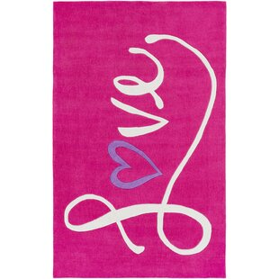 Alvin Hand-Tufted Bright Pink Area Rug By Zoomie Kids