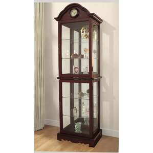 Inglaterra Lighted Curio Cabinet by Astoria Grand