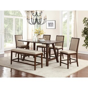 Chandeleur 6 Piece Counter Height Dining Set DarHome Co
