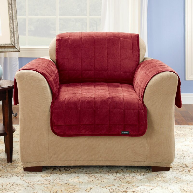 Sure Fit Deluxe Comfort Box Cushion Armchair Slipcover Reviews Wayfair