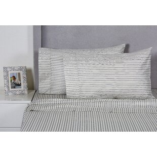Eider & Ivory Carlson Stripe 400 Thread Count 100% Cotton Sheet Set