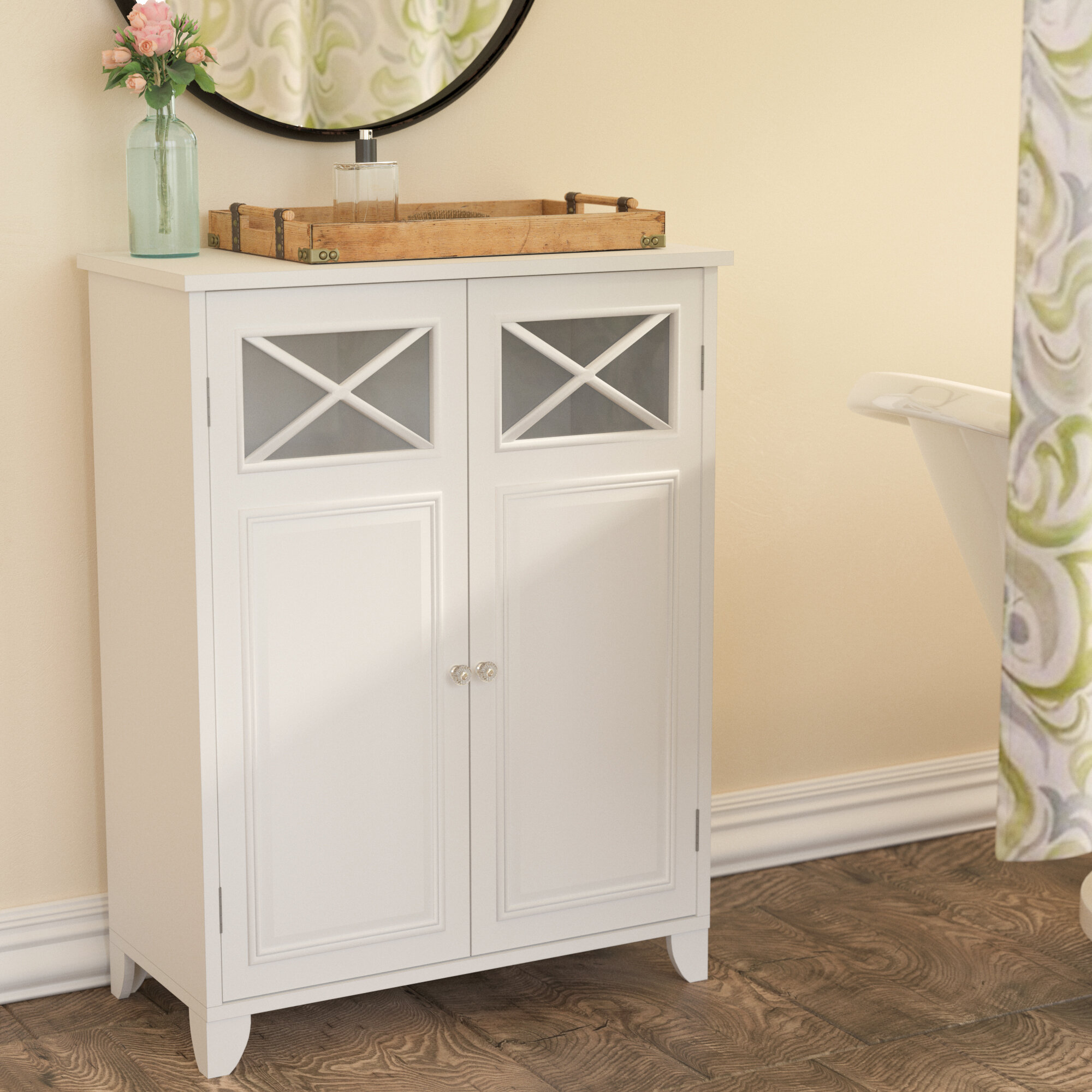 Rosecliff Heights Roberts 26 W X 34 H X 13 D Free Standing Bathroom Cabinet Reviews Wayfair