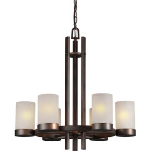 Ebern Designs Mcmahan 6-Light Shaded Chandelier