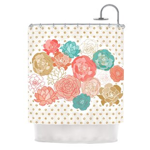 Best Reviews Spring Florals by Pellerina Design Blush Peony Shower Curtain By East Urban Home