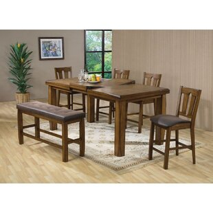 Yokley Counter Height Solid Wood Dining Table Millwood Pines