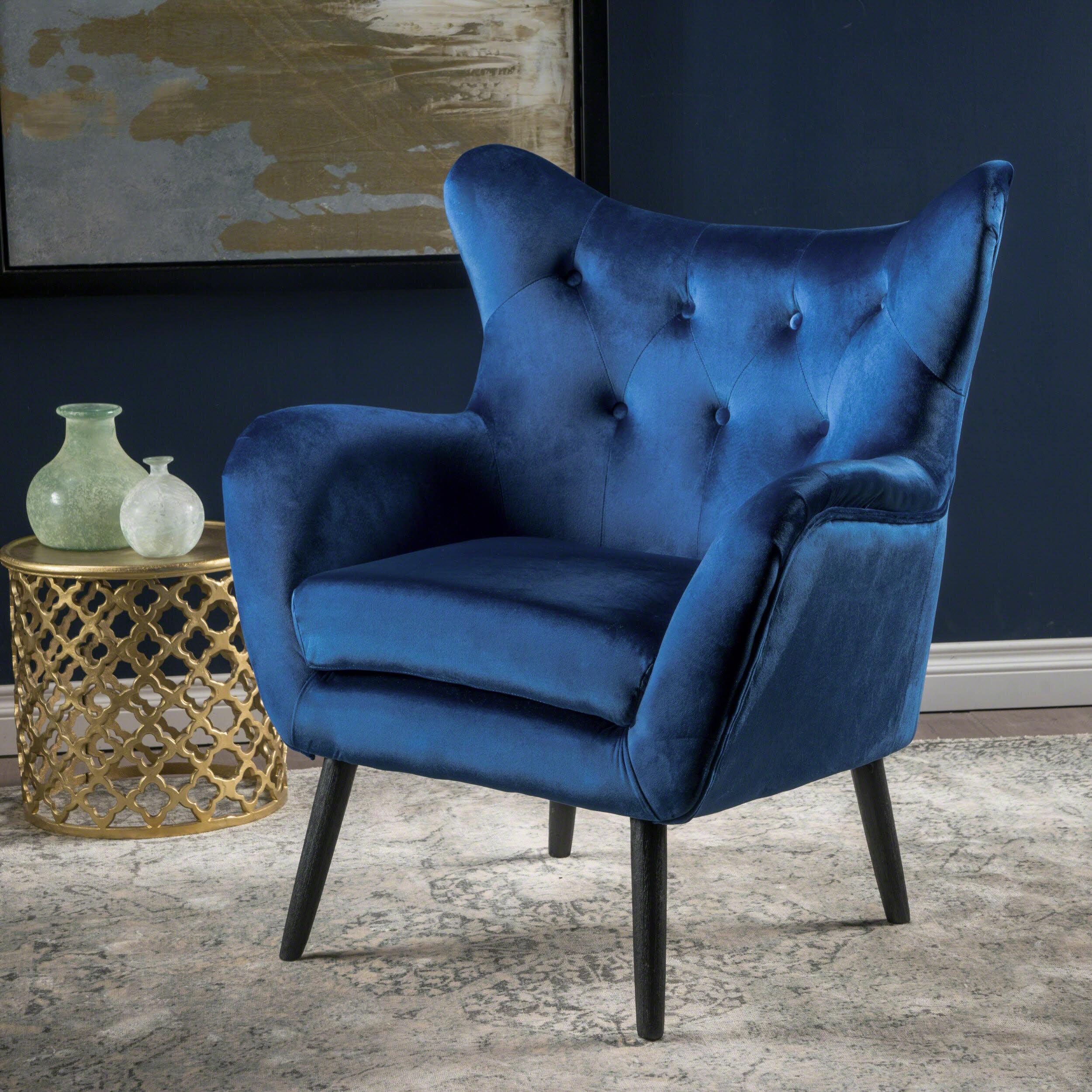 Light Blue Wingback Chair   Wayfair.ca