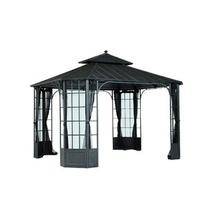 Bayside 12 Ft. W x 10 Ft. D Steel Patio Gazebo by Sunjoy