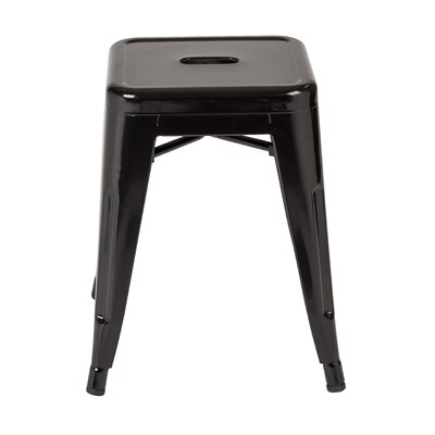 "Blaney 18"" Bar Stool Color: Black by Brayden Studio"