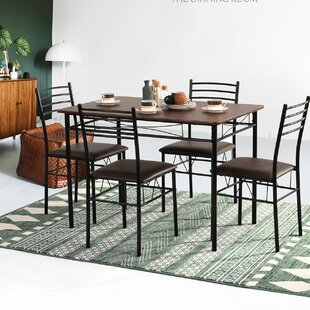 Thelen 5 Piece Dining Set by Winston Porter