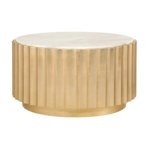 Scalloped Coffee Table by Worlds Away