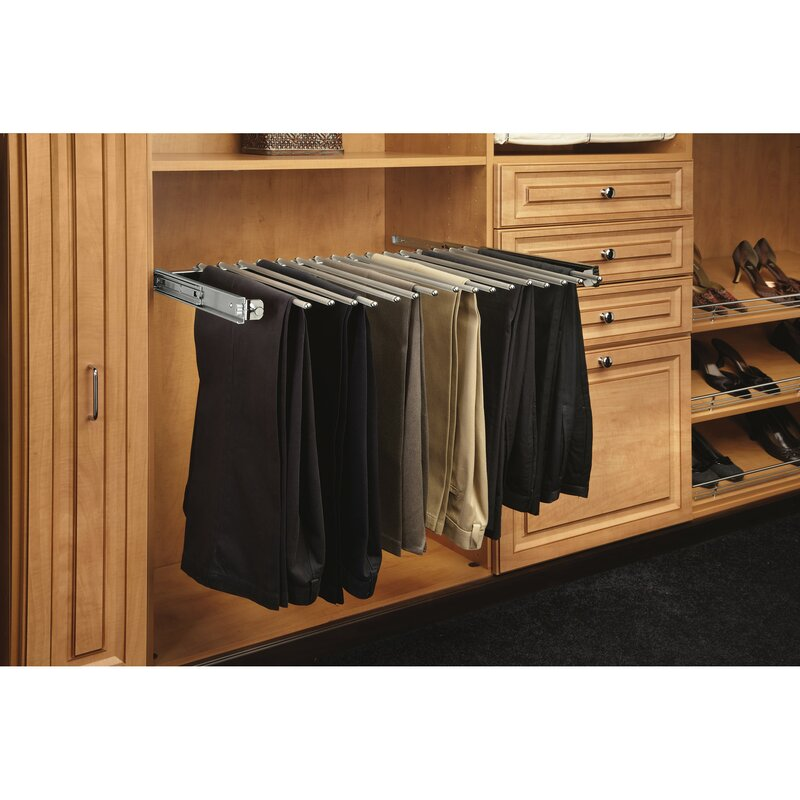 Pull Out Pants Rack With Full Extension Slide