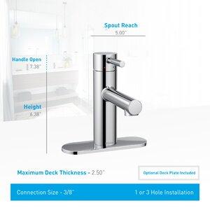 Align Single Handle Single Hole Bathroom Faucet with Drain