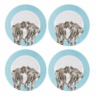 Read Reviews Wrendale Melamine Dinning Plate (Set Of 4)