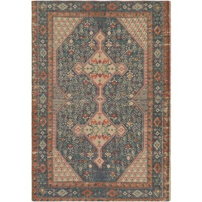 Three Posts Middlesbrough Hand-Woven Neutral/Blue Area Rug Rug Size: Rectangle 2' x 3'