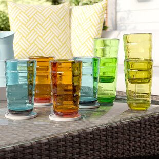 Fulmer 8-Piece 25 oz. Plastic Drinking Glass Set