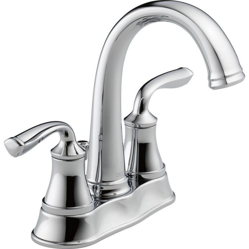 Delta Centerset Bathroom Faucet with Drain Assembly ...