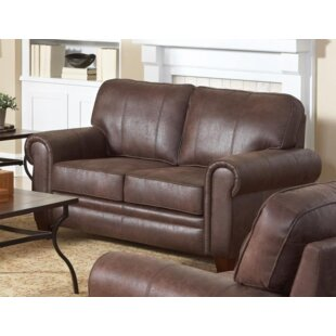 Krout Genuine Leather Loveseat by Williston Forge