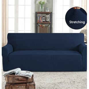 Great Price Stretch Box Cushion Sofa Slipcover by Symple Stuff Reviews (2019) & Buyer's Guide