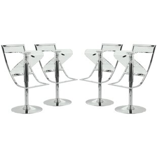 Napoli Adjustable Height Swivel Bar Stool (Set of 4)