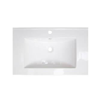 Transolid Newport 35 Solid Surface Single Bathroom Vanity Top Wayfair