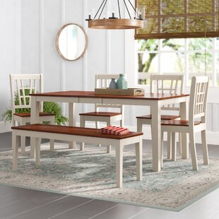 Pillar 6 Piece Dining Set August Grove