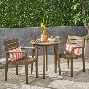 Ivy Bronx Araujo 3 Piece Dining Set With Cushions Wayfair