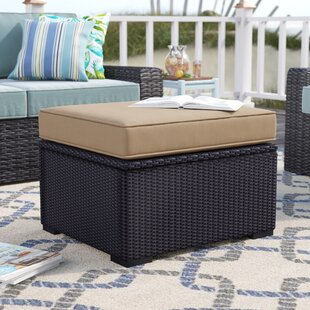 Highland Dunes Dinah Outdoor Ottoman with Cushion