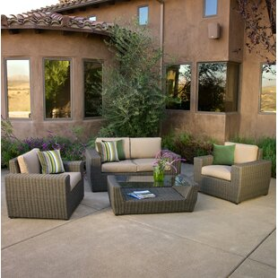 Chandler 4 Piece Sunbrella Sofa Seating Group with Cushions