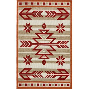 Lochbuie Burgundy/Beige/Terracotta Indoor/Outdoor Area Rug
